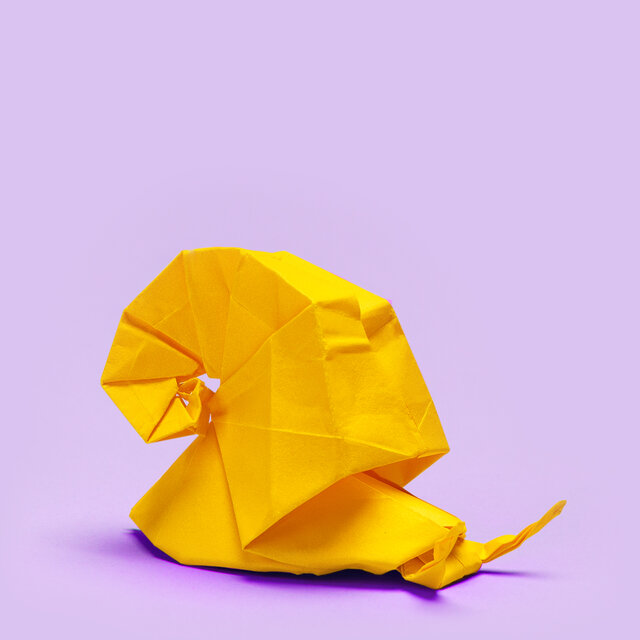 Origami of a snail