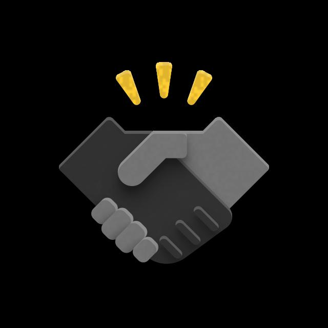 Icon eines Handschlags