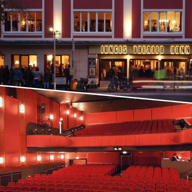 Outside and inside of the Junges Theater Bonn