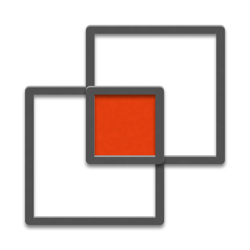 Illustration of two overlapping squares