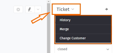 Screenshot Zammad Ticket Submenu