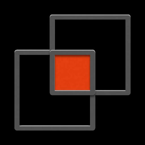 Illustration von zwei sich überschneidenden Quadraten