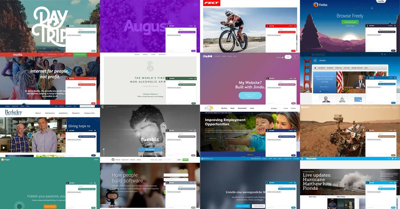 Screenshot Zammad Chat in verschiedenen Varianten