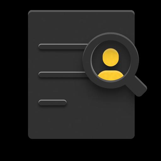 Icon einer Lupe auf der Suche nach einer Person