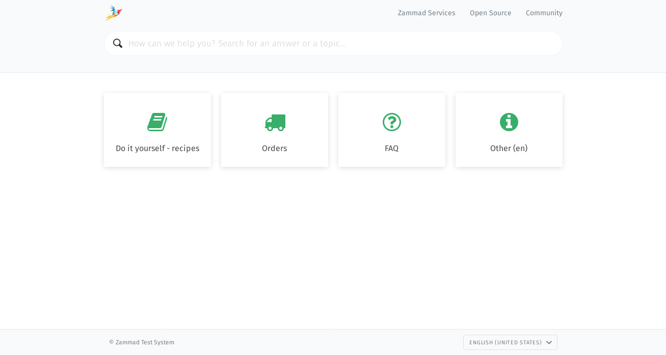 Screenshot Zammad Knowledge Base