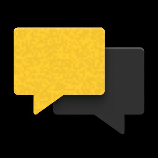 Icon mit zwei Sprechblasen
