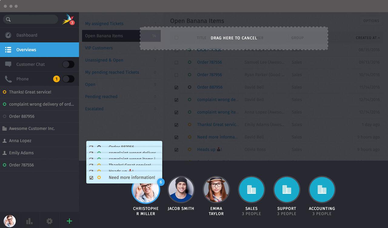 Screenshot Zammad Agent Batch User Group